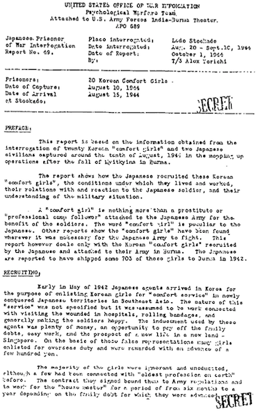 POW Report No. 49 (1st page)